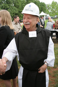 Father Methodius Telnack welcomes guests on hand for the Monastery of the Holy Spirit's May 11 groundbreaking for its Public Gathering Space and Visitors Center, the Monastic Heritage Center.   (Page 13, May 27, 2010 issue)