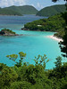 The famous caribbean beach kissed by sand and clear aqua waters - St. John - U.S. Virgin Islands
