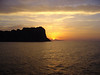 Sun dips below the horizion off isle of Capri - Italy