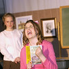 """Record-Eagle/Garret Leiva<br /> Courtney Jurica, as the high maintenance and vain, Rhonda, gives an over-the-top reading for lead role in the school play in a scene from the Traverse City Christian High School production of """"Our Miss Brooks."""""""