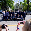 Special to the Record-Eagle/Keith King<br /> A group photo is taken after the close of the Traverse City St. Francis High School commencement Sunday.