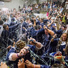Special to the Record-Eagle/Keith King<br /> Silly string fills the air upon the announcement of the Traverse City St. Francis High School class of 2017 Sunday at the close of the Traverse City St. Francis High School commencement.