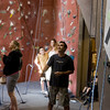 Full participation.  The parents run the belay lines for the climbers.