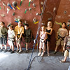 More training prior to being turned loose on the rock walls