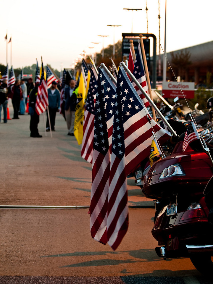 The bikes showed our respect and pride