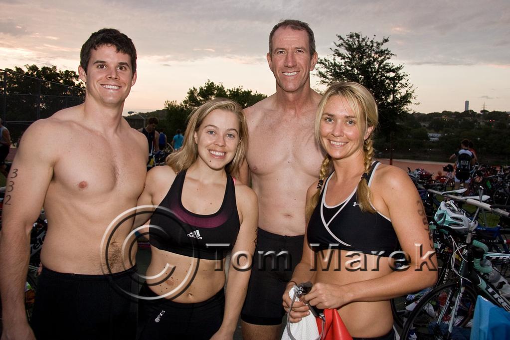 Athletes ready for the swim start of the Marble Falls Triathlon