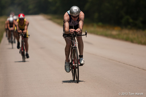 At mile 94, Scott Kellie (Louisville, KY) concentrates on pushing through the final 18 miles.