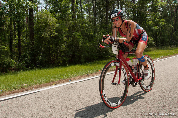 First timer Eva Ramos (Austin, TX) looks strong and confident at mile 48 of the bike course.
