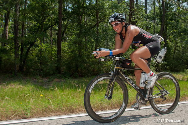 Michelle LaPuente (Boulder, CO) rides through the Sam Houston National Forrest.
