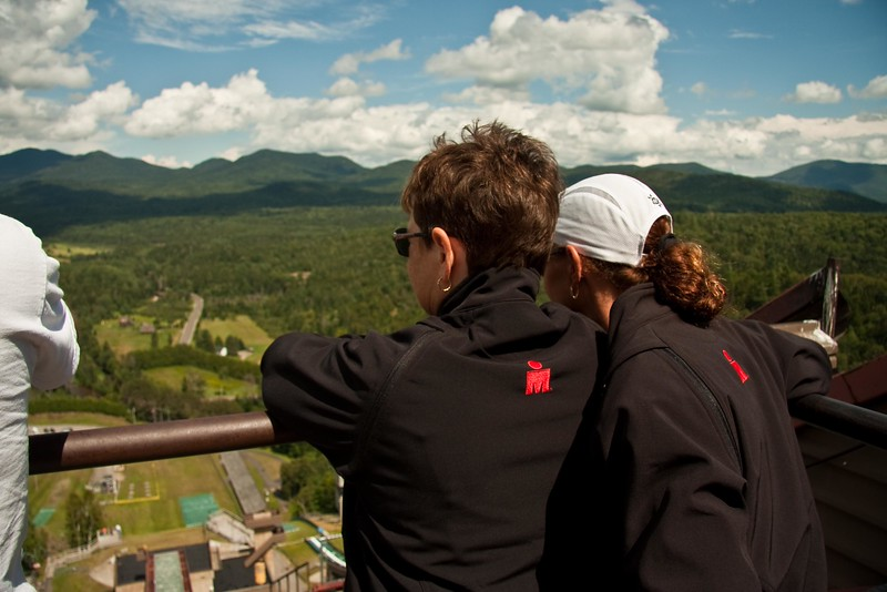 View from the top of the ski jump tower.
