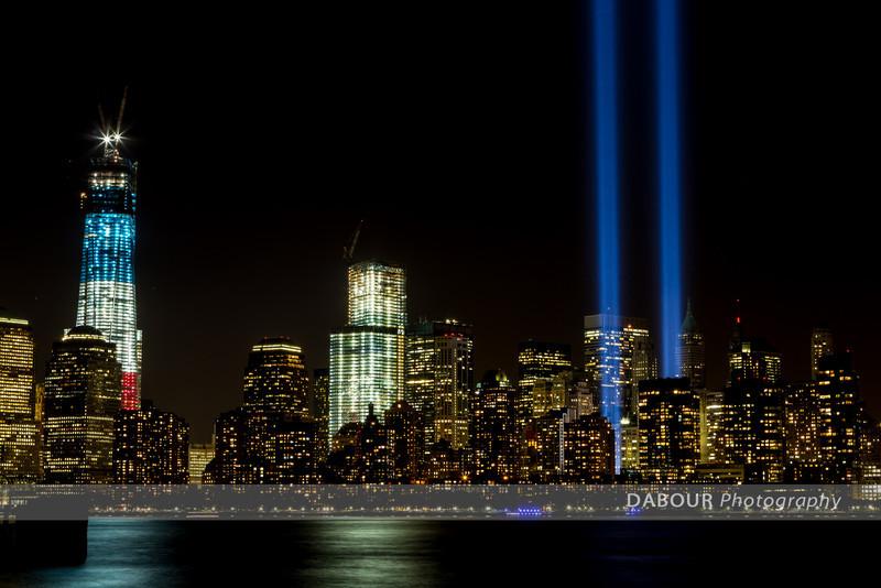 Manhattan skyline taken from Liberty State Park, NJ. September 11, 2012 - 11th anniversary