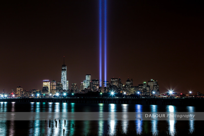 Photos of the Tribute of Lights 2013 as seen from Liberty State Park. Photos by | DAVE DABOUR
