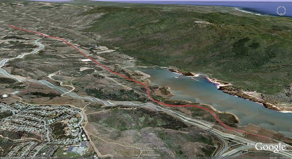 Canada Road, a classic nearly flat ride along the San Andreas fault