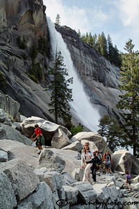 Going up by the Nevada Falls