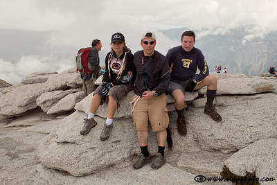 On top of Half Dome.