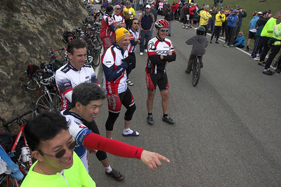 """Is that Ivan Basso down there?..."" The mood at the top was quite festive."