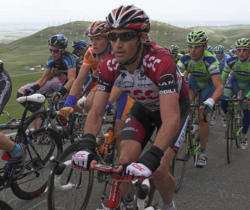 Bobbie Julich riding in the peloton
