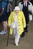 This lady stood out with her bright yellow coat and beautiful cameo pendant necklace