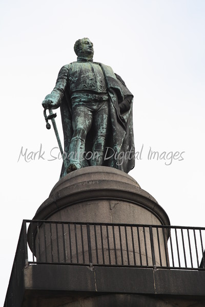 Frederick, Duke of York, looks out onto The Mall in the direction of Horseguards Parade
