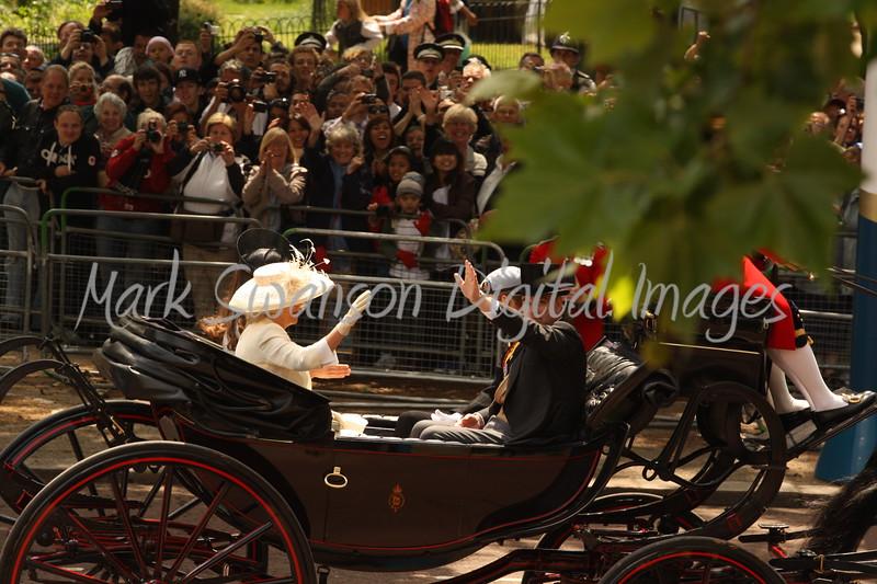 Duchess of Cornwall, Duchess of Cambridge, Duke of York and Prince Harry