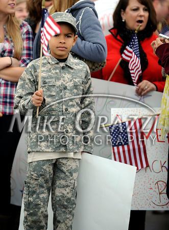 Troops Return Bradley Airport 2010