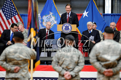 2/12/2011 Mike Orazzi | Staff Connecticut State Senator Richard Blumenthal welcomes home the approximately 600 soldiers from the 1st Battalion, 102nd Infantry Regiment, headquartered in New Haven honored in a formal welcome home ceremony at the William A. O'Neill Armory in Hartford on Saturday, February 12, 2011.