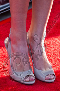 "HOLLYWOOD, CA - MAY 30:  Actress Jamie Gray Hyder (shoe detail) attends HBO's ""True Blood"" Season 5 Los Angeles premiere at ArcLight Cinemas Cinerama Dome on May 30, 2012 in Hollywood, California.  (Photo by Chelsea Lauren/WireImage)"