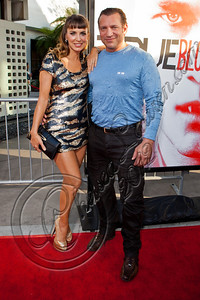 """HOLLYWOOD, CA - MAY 30:  Actors Sandra Vidal (L) and Dimitri Diatchenko attend HBO's """"True Blood"""" Season 5 Los Angeles premiere at ArcLight Cinemas Cinerama Dome on May 30, 2012 in Hollywood, California.  (Photo by Chelsea Lauren/WireImage)"""