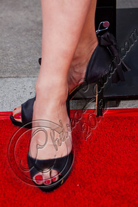 "HOLLYWOOD, CA - MAY 30:  Actress Michelle Forbes (shoe detail) attends HBO's ""True Blood"" Season 5 Los Angeles premiere at ArcLight Cinemas Cinerama Dome on May 30, 2012 in Hollywood, California.  (Photo by Chelsea Lauren/WireImage)"
