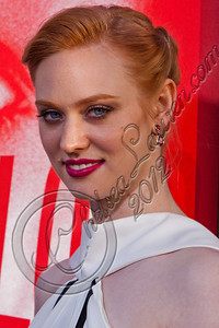 "HOLLYWOOD, CA - MAY 30:  Actress Deborah Ann Woll attends HBO's ""True Blood"" Season 5 Los Angeles premiere at ArcLight Cinemas Cinerama Dome on May 30, 2012 in Hollywood, California.  (Photo by Chelsea Lauren/WireImage)"