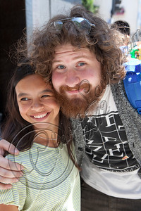 HOLLYWOOD, CA - JUNE 02:  Television personality / musician Casey Abrams (R) attends Truheart Events' 1st Annual Wonderland Suite benefiting Children's Hospital Los Angeles at Tru Hollywood on June 2, 2012 in Hollywood, California.  (Photo by Chelsea Lauren/WireImage)