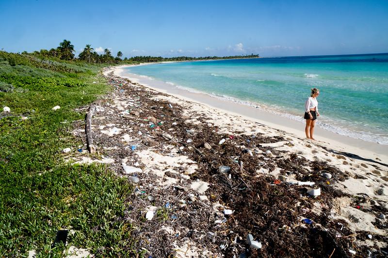 Plastic on the beaches