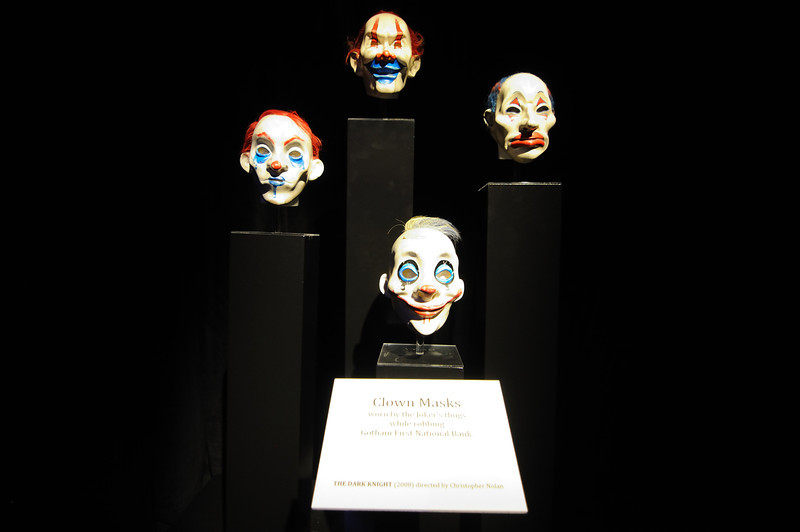 Clown masks from the first scene of The Dark Knight