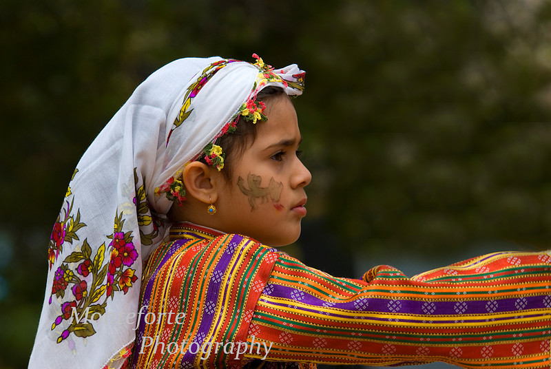 Girl in traditional costume, Turkish Festival, Monterey California