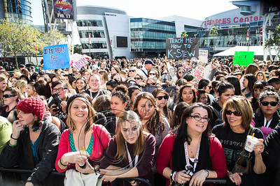 LOS ANGELES, CA - NOVEMBER 10:  Fans attend the Twilight fan camp concert at L.A. LIVE on November 10, 2012 in Los Angeles, California.  (Photo by Chelsea Lauren/WireImage)