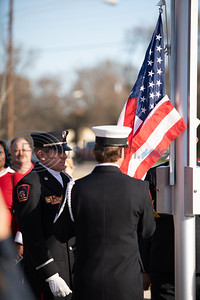 Color guard posting the colors