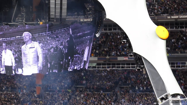 U2 coming onstage to open the show