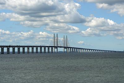 The Oresund Bridge, Sweden on 4 June 2015