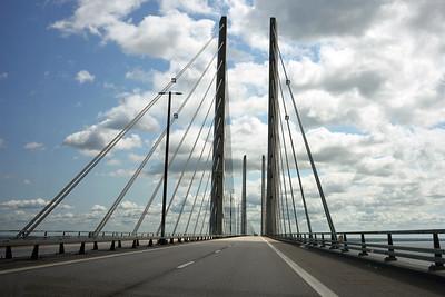 The Oresund Bridge heading for Sweden on 4 June 2015