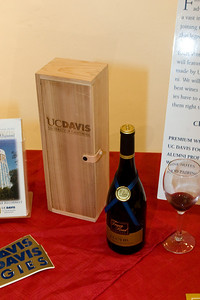 Wine from five wineries where UC Davis alumni are wine makers could be sampled.