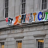 The Slade School of Fine Art have colourful banners.