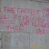 Over the weekend graffiti was chalked across the campus, the following examples are from the Quad.