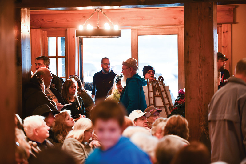 Matthew Gaston | The Sheridan Press<br>People from all over Sheridan county packed into the Raymond Plank Creative Center in Ucross to celebrate the life of Raymond Plank and kick off the holiday season with the Ucross Community Christmas Celebration Saturday, Dec. 15. 2018.