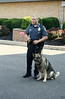 Montgomery Township police K9 Officer Rose and his dog, Duke, give a demonstration at the UD Jr. Police Academy.