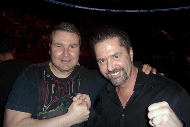 UFC Commentator Mike Goldberg with Darren Malone