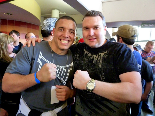 UFC Heavyweight Fighter Pat Barry with Darren Malone