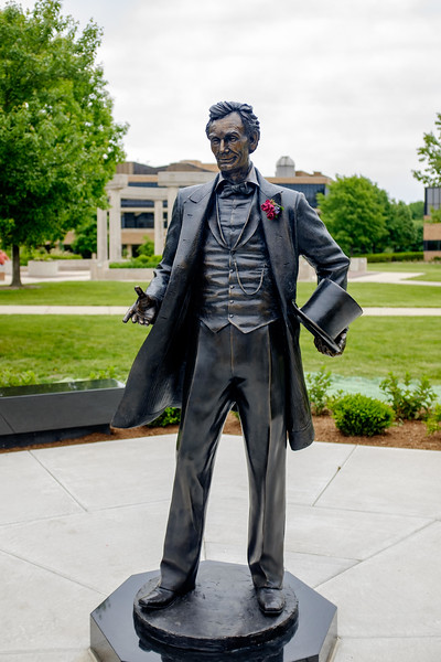Honest Abe with boutonnière