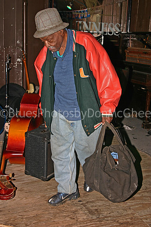 Uncle Jessie White heading home after the gig 2004