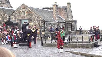 21 Gun Salute-Prince Charles 69th Birthday_Edinburgh Castle_Edinburgh_Scotland_MAH02905