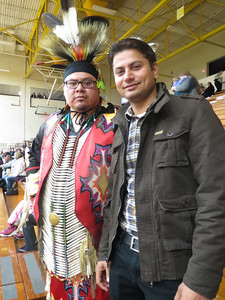 "My ""old"" college friend (Joe T. 95'-96' at Clayton A. Gay Hall) and current housemate (Adnan). Joe is a member of White Earth reservation...http://www.whiteearth.com/"